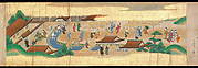 "Festivities of the Twelve Months: ""Sannō Hiyoshi Festivals Held on the Day of the Monkey in the Mid-Fourth Month""; Festivities of the Twelve Months: ""Sumō Wrestling at Matsuno'o Shrine during the Hassaku Festival on the First Day of the Eighth Month"""