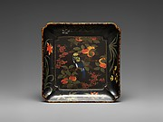 Dish with Persimmons, Flowers and Birds