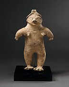 Standing Female Clay Figure
