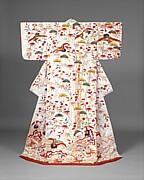 Outer Robe (Uchikake) with Theme of Mount Hōrai