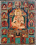 Portrait of Jnanatapa Attended by Lamas and Mahasiddhas