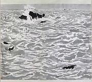 近代  吳冠中  北戴河  軸<br/>Seascape at Beidaihe