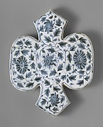Shaped Tile with Floral Decoration