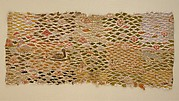 Textile with Aquatic Birds and Recumbent Animal