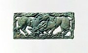 Belt Plaque with Fighting Stallions