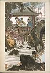 近代  傅抱石  水閣圍棋圖  軸<br/>Playing Weiqi at the Water Pavilion
