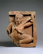 Plaque with Figure Holding a Sword