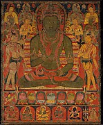 Buddha Amoghasiddhi with Eight Bodhisattvas