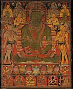 Buddha Amoghasiddhi with Eight Bodhisattvas