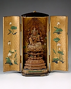 Portable Shrine with an Image of the Horse-Headed (Bat) Kannon
