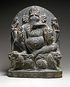 Ganesha Seated on a Lion Throne
