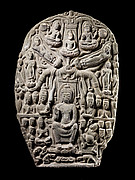 Stele with the Twin Shravasti Miracles