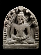 Buddha in Meditation under a Seven-Headed Naga
