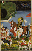 Maharana Bhim Singh Returning from Hunting Boar