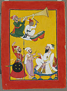 Celebrations of Krishna's Birth: Folio from a Bhagavata Purana Series