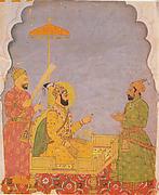 Emperor Farrukhsiyar Bestows a Jewel on a Nobleman
