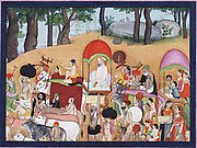 The Infant Krishna Journeying from Gokula to Vrindavan: Folio from a Bhagavata Purana Series