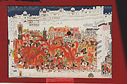 Maharana Sarup Singh and his Courtiers on Elephants Celebrating the Festival of Holi