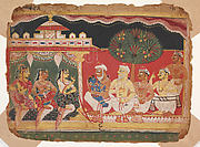 Nanda Touches Krishna's Head after the Slaying of Putana: Page from a Bhagavata Purana Manuscript