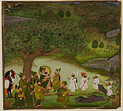 Maharana Bhim Singh Reviewing the Kill after a Boar Hunt