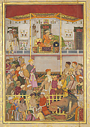 Jahangir Receives Prince Khurram at Ajmer on His Return from the Mewar Campaign: Page from the Windsor Padshahnama