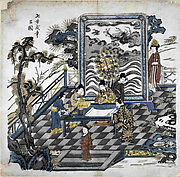 Cao Zhi Composing Poetry
