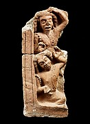Fragment from a Narrative Relief Depicting Rishis