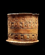 Funerary Urn with Buddhist Auspicious Emblems