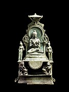 Enthroned Buddha Vairocana