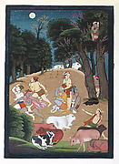 Krishna Playing Blindman's Bluff