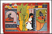 Vasishtha visits Rama: folio from the Shangri I Ramayana series