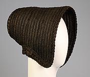 Mourning poke bonnet