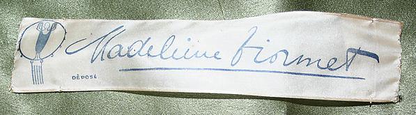 Madeleine Vionnet label, circa 1930.