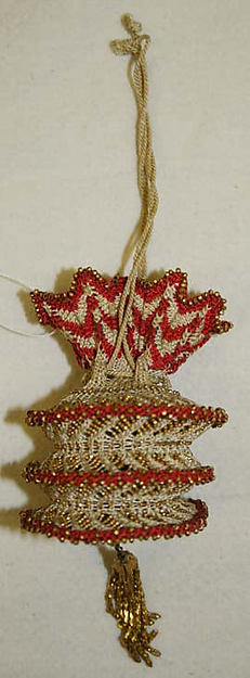 Victorian beaded reticule