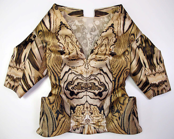 Wood-grain digital print, Alexander McQueen SS 2009