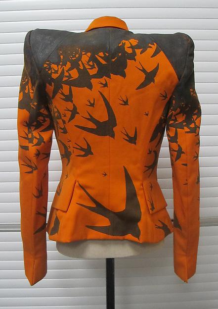 Silk jacket with swallow print, Alexander McQueen SS 1995 (The Birds)