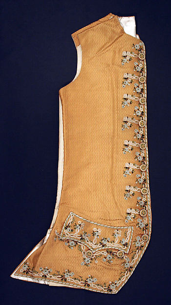 This is What French culture and Waistcoat Looked Like  in 1775