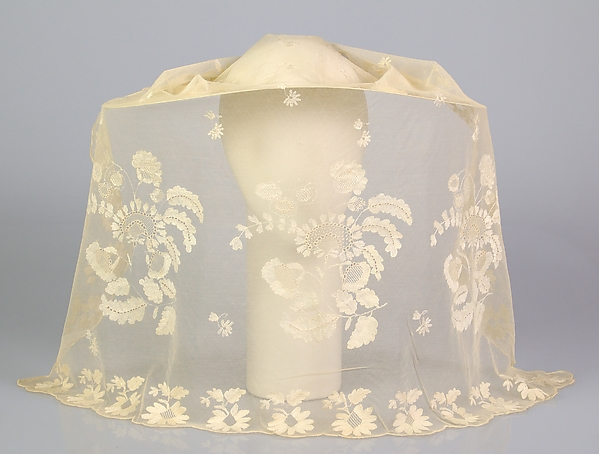 1846 Wedding veil, from the Met