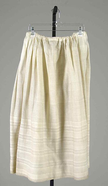 1840s or 1850s corded petticoat from The Met.