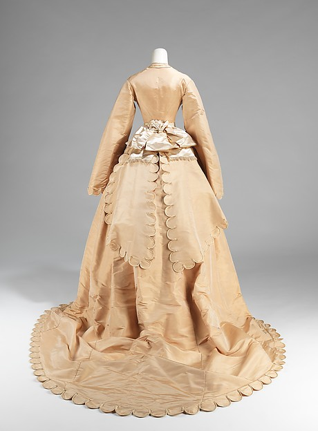 Wedding ensemble and shoes by Courvoisier 1870 US the Met Museum