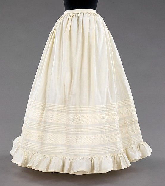 Original Victorian white petticoat from The Met.