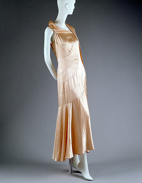 Coco Chanel vintage 1930s Dress, Evening