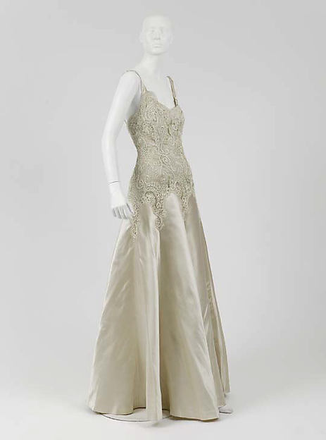 1930s Chanel vintage Dress, Evening