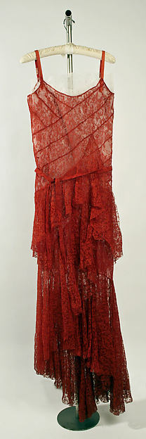 vintage dress Chanel 1930 Ensemble, Evening
