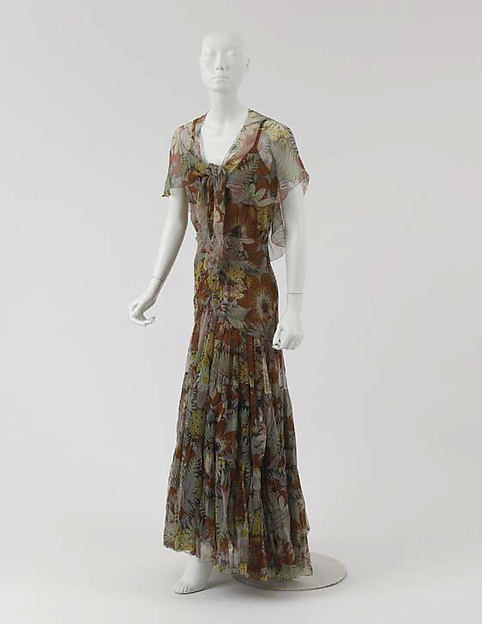 vintage Chanel 1930s dress Ensemble, Evening
