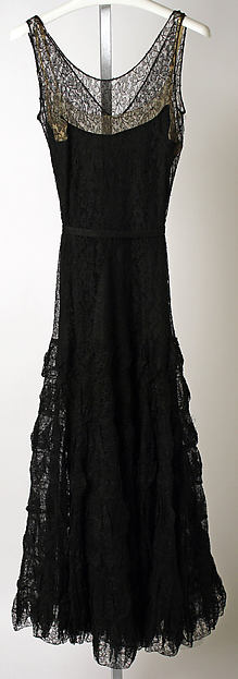 Chanel vintage dress 1930s Ensemble, Evening