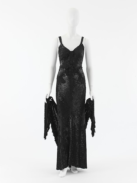 Coco Chanel vintage dress 1930s Ensemble, Evening