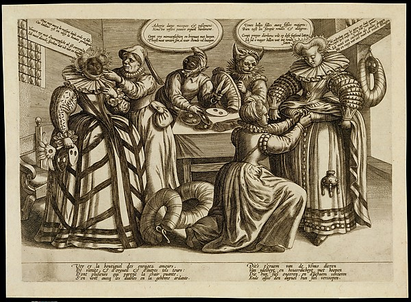 Fascinating Historical Picture of Maerten de Vos with The Vanity of Women| Masks and Bustles in 1600