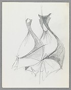 Sketch, Evening Gown (Side and Back Views)