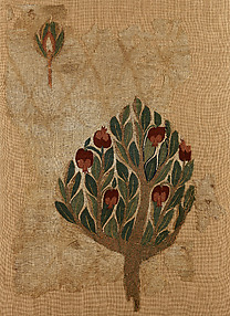 Textile Fragment with Tree